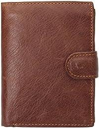 Portefeuille Hommes en Cuir , Charminer Bourse de Peau Multi Rangement Style Vintage Rétro marron