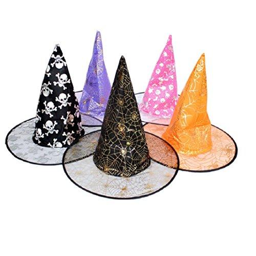 Amcool Hexen Hut,Cool 1 Stück erwachsenen Frauen für Glücklich Halloween Kostüm Zubehör (Hexe Hut)