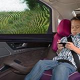 Hiveseen 2 Stück Universal Sonnenschutz Auto, Sonnenblende Abdeckung Seitenfenster Heckscheibe, Dehnbares Netz, Blockt 97% UV-Strahlung und Sichtschutz, Passt Car SUV PKW KfZ, für Kind, Hunde und Baby