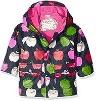 Hatley Baby-Mädchen Regenmantel Infant Raincoat-Nordic Apples, Blau-Blau, 86