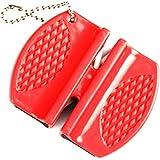 Bolsillo de carburo de tungsteno de cerámica de Rod afilador de cuchillos para acampar y al aire libre Rojo
