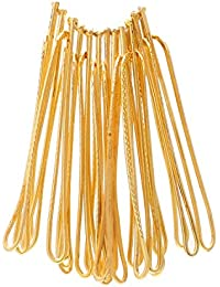 Memoir Gold Plated Saree Dupatta Clip On Safety Pins For Women/ Girls - Set Of 12