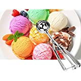 Mayatra's Stainless Steel Ice Cream Scoop Easy Handheld Ice Cream Serving Scooper