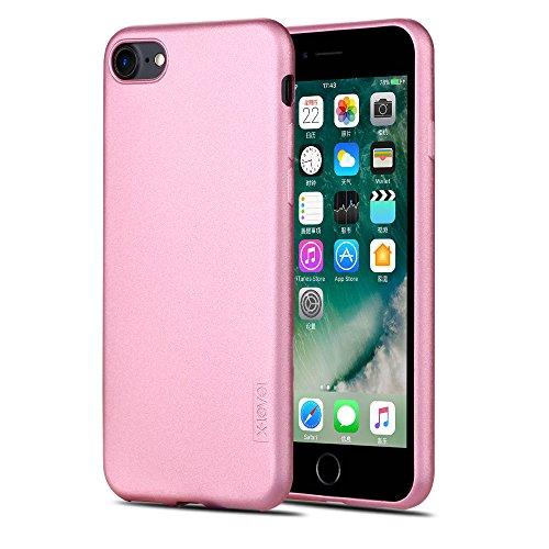 X-level iPhone 8 Hülle, iPhone 7 Hülle, [Guardian Serie] Soft Flex TPU Case Ultradünn Handyhülle Silikon Bumper Cover Schutz Tasche Schale Schutzhülle für iPhone 7/ iPhone 8 4,7 Zoll - Roségold