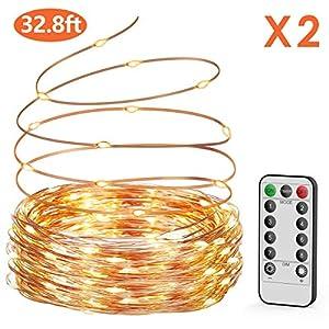 Guirnalda luces pilas【2 * 10M】,