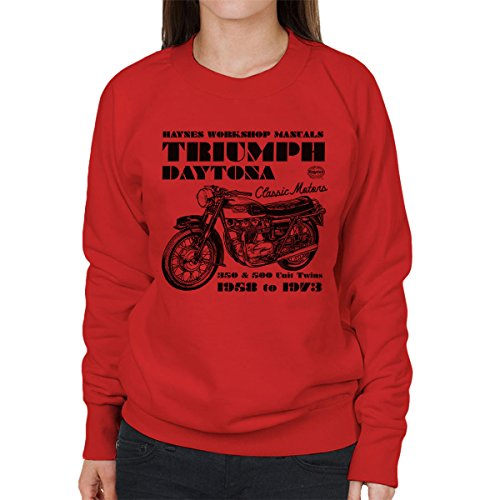 Haynes Owners Workshop Manual Triumph Daytona 350 500 Women's Sweatshirt - Daytona Spiel 500