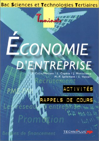 Economie d'entreprise, terminale STT