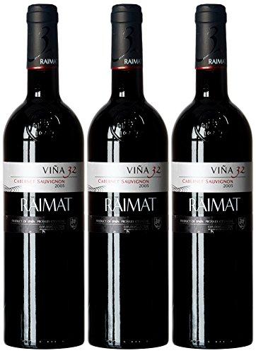 Raimat Cabernet Sauvignon - Paquete De 3 Botellas De Vino Castell (3 X 0,75l)