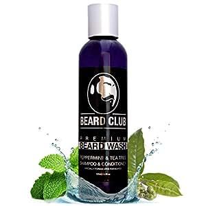 Premium Bart Shampoo & Conditioner | Belebende Pfefferminze und Teebaum | Das Beste 100% Natürliche & Organische Bartwäsche / Beard Soap / Bartseife für Männer