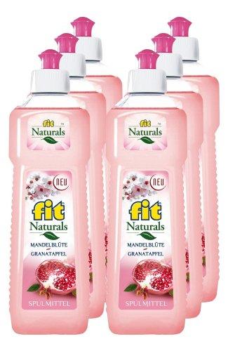 Spuelmittel Granatapfel (6er Vorratspack Fit Spülmittel Mandelblüte-Granatapfel 3000 ml)