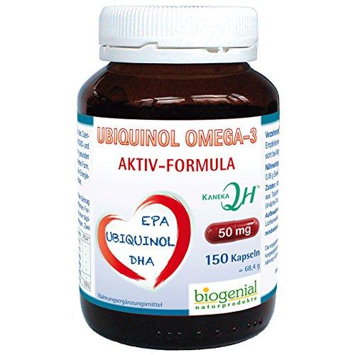 Ubiquinol Omega-3 150 Kapseln Aktiv-Formula mit DHA + EPA