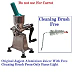 Heavy Duty Jagjeet Fruit Juicer 16 Number White With Free Cleaning Brush Home Use Only Pure Aluminium Body Made In India Hand Made