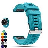 Garmin Fenix 5 GPS-Multisport-Smartwatch Uhr Ersatzband, iFeeker Weiche Silikon Schnellinstallation...