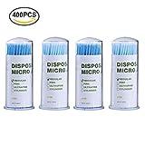 400PCS micro applicatori tamponi di pennelli, monouso ciglia estensione per ciglia estensioni