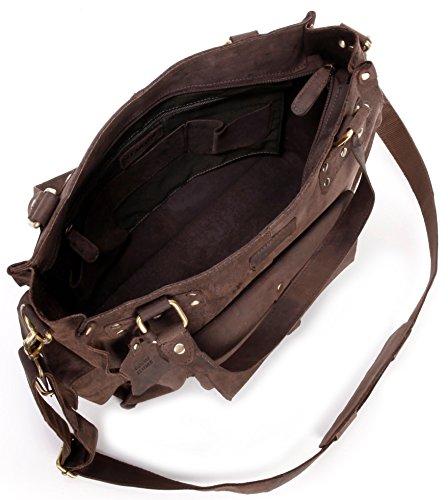 LEABAGS Richmond sac à main rétro-vintage en véritable cuir de buffle - Noix de muscade Noix de muscade