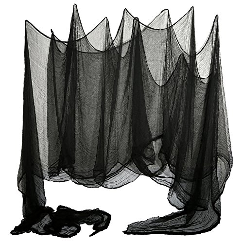 Shappy Halloween Creepy Tuch Große Größe 15,9 x 1,75 Yards Cover Gaze für Party Doorways Draußen Drape Entryways Windows (Gaze Halloween)