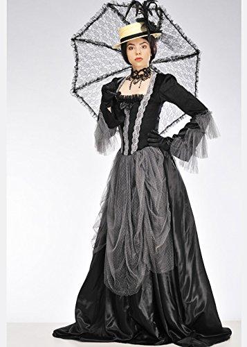 Magic Box Int. Womens Black and Grey Victorian Lady Kostüm L (UK 12-14)