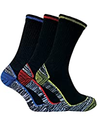 Mens Summer Anti Sweat Breathable Heavy Duty Cotton Bamboo Work Socks for Steel Toe Boots