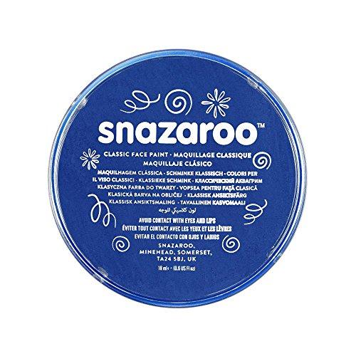 Snazaroo 1118344 Kinderschminke, hautfreundliche hypoallergene Gesichtschminke auf Wasserbasis, wasservermalbar, parabenfrei, königsblau, 18 ml ()