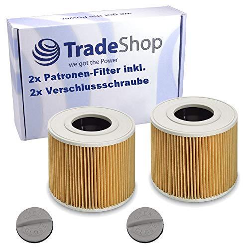 2x Patronen-Filter inkl. Verschlussschraube für Kärcher NT 48/1 1.428-620.0 NT 48/1 TE 1.428-625.0