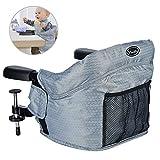 Seggiolino da tavolo per bambini con sistema di cintura a 5 punti Vbestlife Pieghevole Lavabile Seggiolone Sedia con borsa per il trasporto (A)