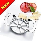 Affetta Mela,W-Unique Acciaio Inossidabile Kitchenware Series Rimuove Torsolo e Affetta 8 Lame Taglia Mele