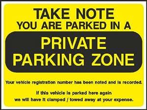 200 mm x 150 mm STATIONNEMENT INTERDIT PROPRIÉTÉ PRIVÉE (Autocollant auto-adhésif Label signe)