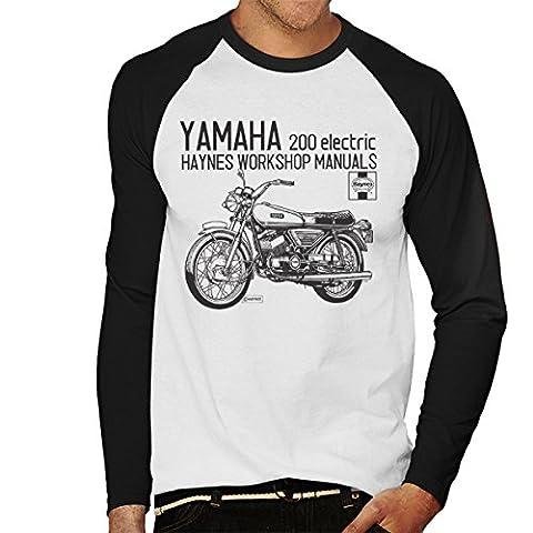 Haynes Owners Workshop Manual Yamaha 200 Electric Men's Baseball Long