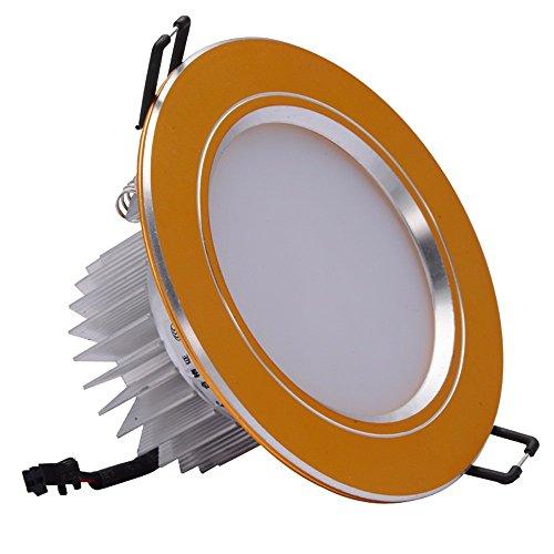 Kommerzielle Lounge (Moderne Vertieftes Chrom Decken Spot Downlight Professionelle Qualität Aluminium LED Driver Spotlights für Küche Schlafzimmer Lounge Ultra Slim kommerzielle Beleuchtung mit 6500K Weißlicht)