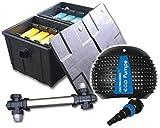 Filter Set Bio Teichfilter CBF2 + Teichpumpe Z6500 + UVC 55 Watt Edelstahl