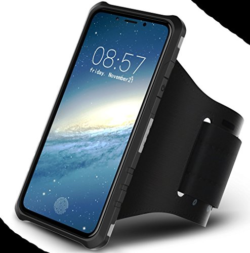 iPhone X Armor Case, Very Light Slim Round Rotating Style + Sport Fashion Arm Belt, WEIFA 2017 Newest Super Cool Outdoor Anti-Drop Protection CellPhone Cover Case For iPhone X Silver !Black