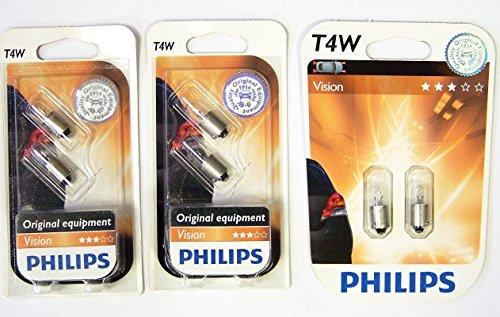 Philips 12929B2 Standlichtlampe Vision T4W 3 x 2 Stück