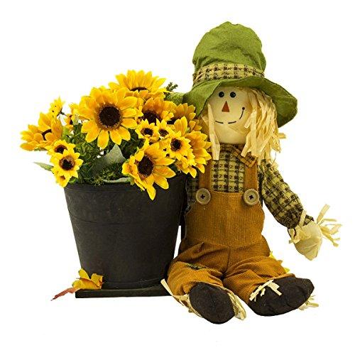 Halloween Niedliche Kürbis Vogelscheuche Ghost Festival Bar KTV Mall Home Dekoriert Requisiten Pastoral (Color : Boy with Flower)