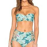 Produp Fashion Damen Print Bademode Sexy Zweiteilige Bademode Badeanzug Bikini Bequeme beiläufige Sweatshirt