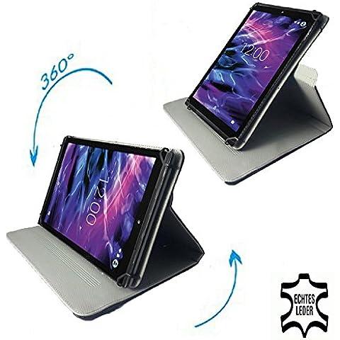 Samsung Galaxy Tab a 2016–Tablet Case–Funda con Touch Pen & Stand Función–360° 10.1pulgadas negro Echtleder 360