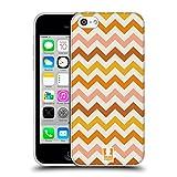 Head Case Designs Orange Chevron - Motif Coque en Gel Doux Compatible avec iPhone 5c