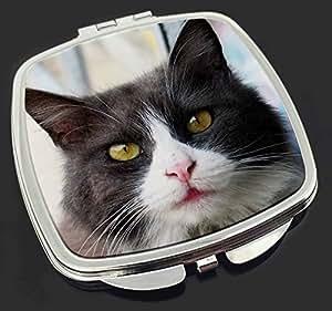 Pretty Black and White Cat Make-up Taschenspiegel Weihnachtsgeschenk