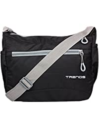 Trends Light Weight Unisex Sling Bag - Black (Black)
