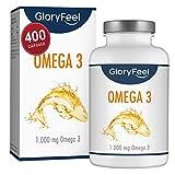 Omega 3 Olio di Pesce | 400 Capsule di Omega-3 1000mg (Fornitura per più...