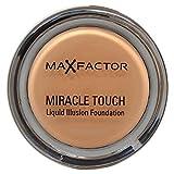 Max Factor Miracle Touch Foundation Sand 60 – Grundierung, die von fest zu flüssig wechselt – Für einen absolut ebenmäßigen Teint – 11.5 gram