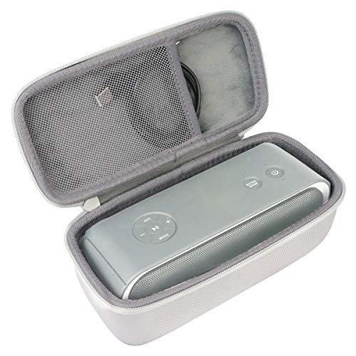Hart Reise Schutz Hülle Etui Tasche für DOSS Soundbox Pro Bluetooth Lautsprecher von co2CREA (Grau)