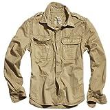 Surplus Homme chemise à manches longues Raw Vintage Checkered, Couleur: Beige, Taille: XXL