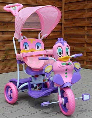 Kinder Dreirad-Schaukelsitz 2 In 1 Ente Kinderwagen - Rosa
