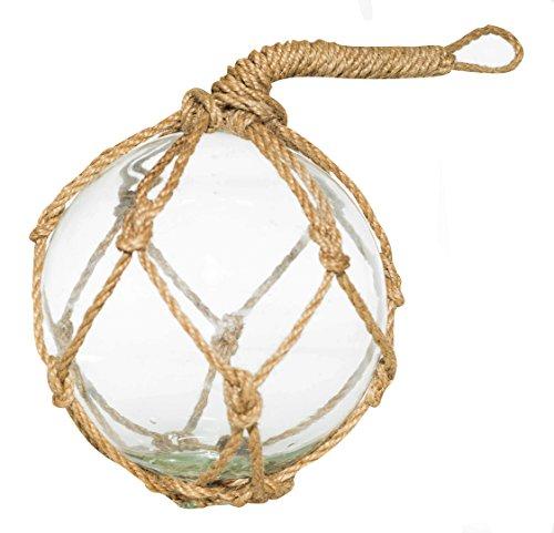 Float-glas (Klar Glas Float Ball | groß Angeln Boje Kugeln 12,7cm | 1Stück | Perfekt für Beach Hochzeiten Oder als Weihnachtsschmuck | Nautisches Crush Trading TM)