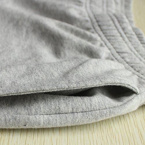 Musclealive Herren Fitnessstudio Bodybuilding Trainieren Kurze Hose Baumwolle Men Shorts Style B Gray, 3 inseam Thick Fabric With Pockets