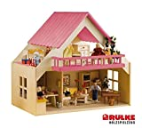 Rülke Holzspielzeug 23194 Haus mit Balkon, pink