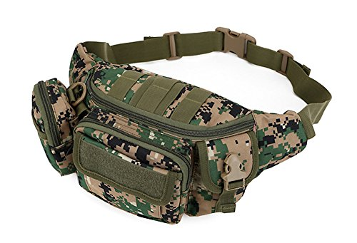 Katech Multifunktional Taille Pack Damen und Herren Outdoor Running Taschen Militär Tactical Taille Tasche für Wandern, Camping und Trekking Jungle digital