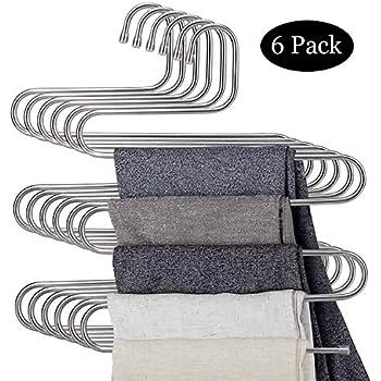 Miyare 2 St/ück faltbar Closet Aufh/änger mehrschichtige Rock Hose Krawatte Slack Rack Aufh/änger Space Saver