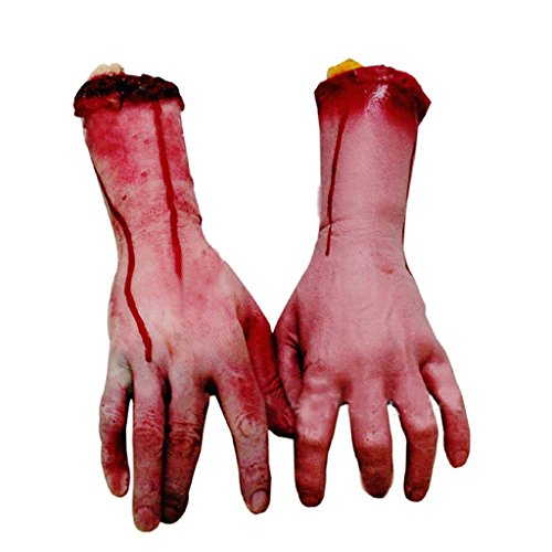 Vovotrade 1 PC heiße verkaufende Halloween-Grausigkeit-Stützen blutige große Größen linke Hand Haunted Haus Partei Dekoration (Kostüm Halloween Spiegel)