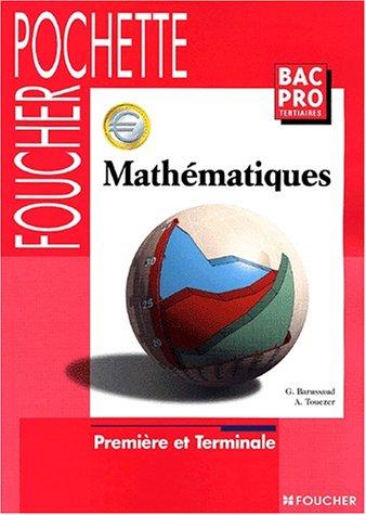 Mathématiques, Bac Pro tertiaires (Sujet Pochette)